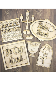 Beauty & The Beast Plaques