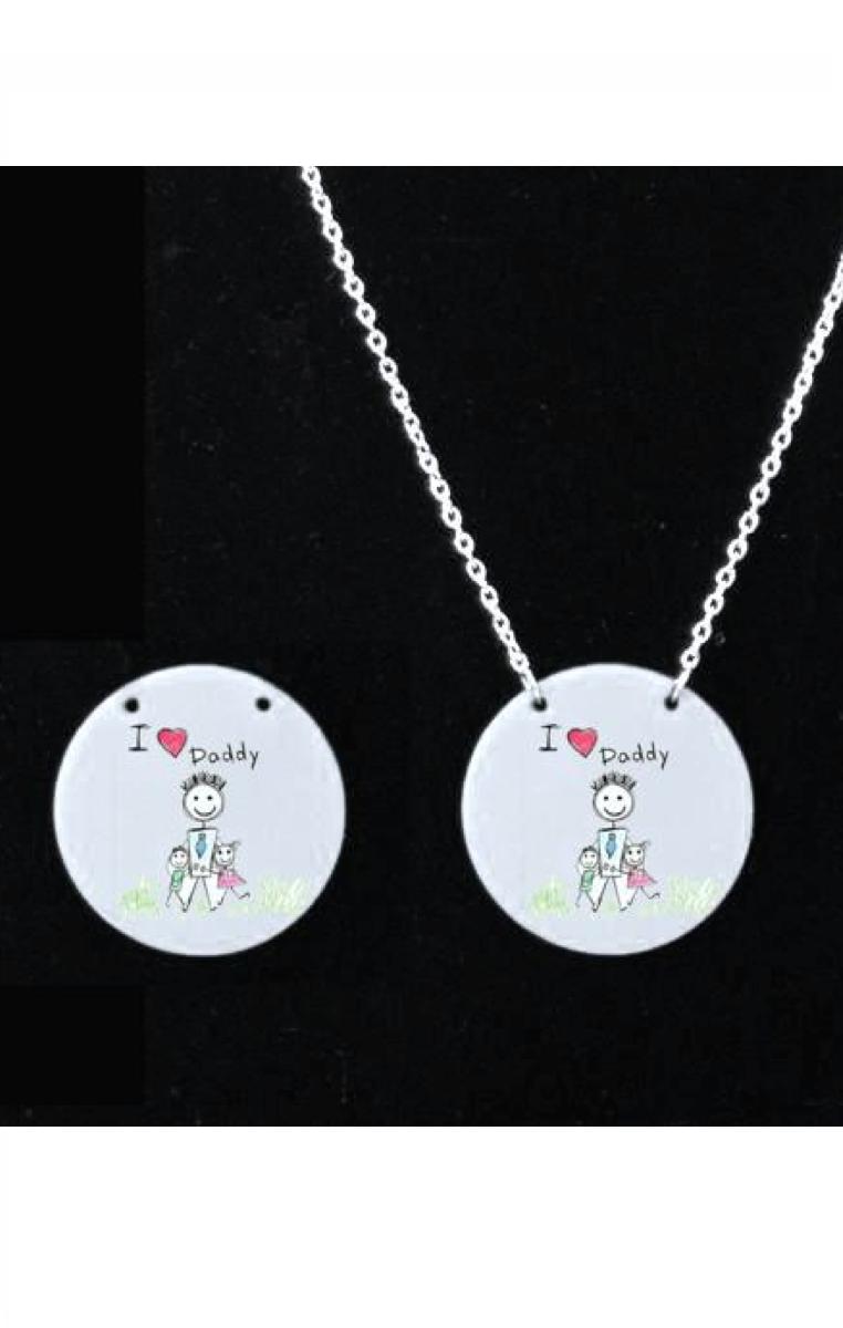 CUSTOM MADE Necklace - Any image, any shape on a keyring