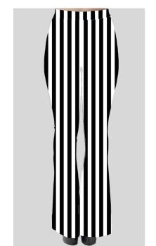 Striped Black & White Flares