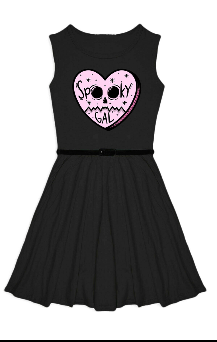 Spooky Gal Skater Dress - Kids