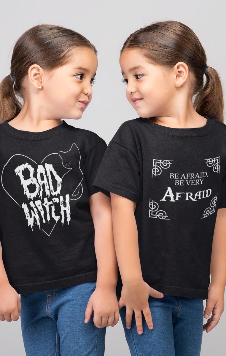 Be Afraid Kids Tshirt