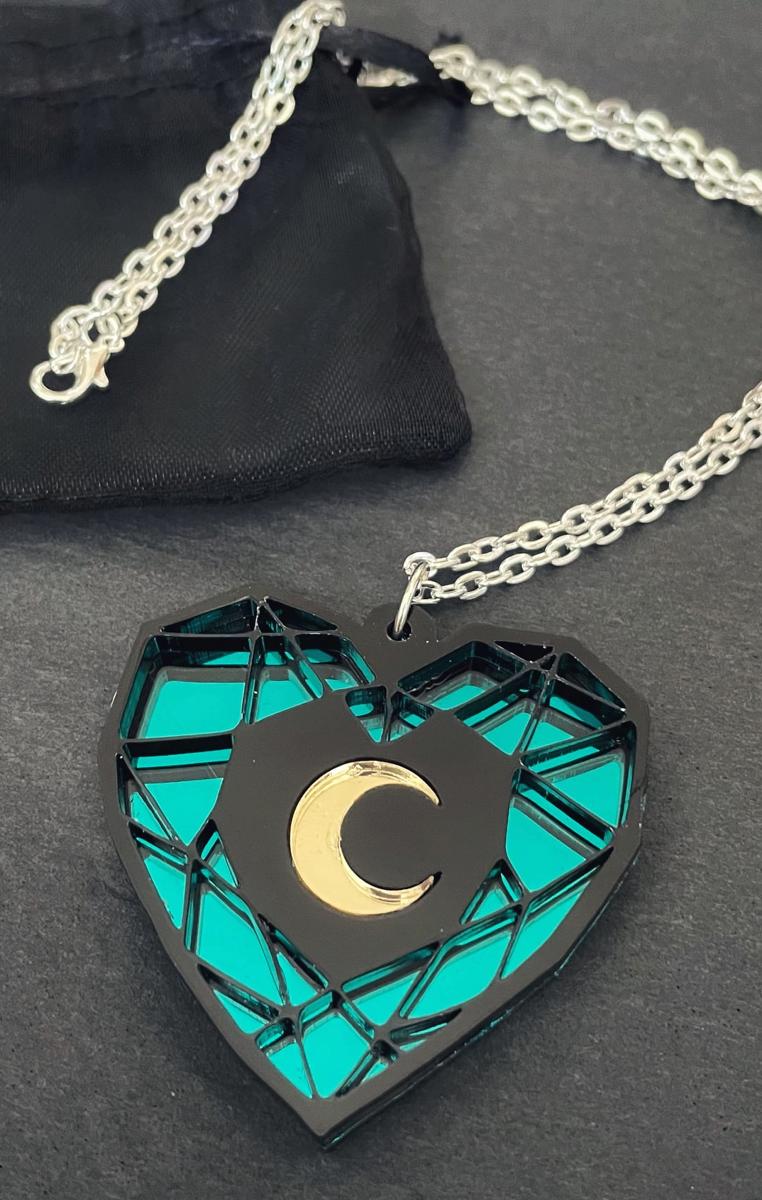 Geode Moon Necklace