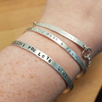 Personalised Stamped Bangle Workshop - 4th May 2019