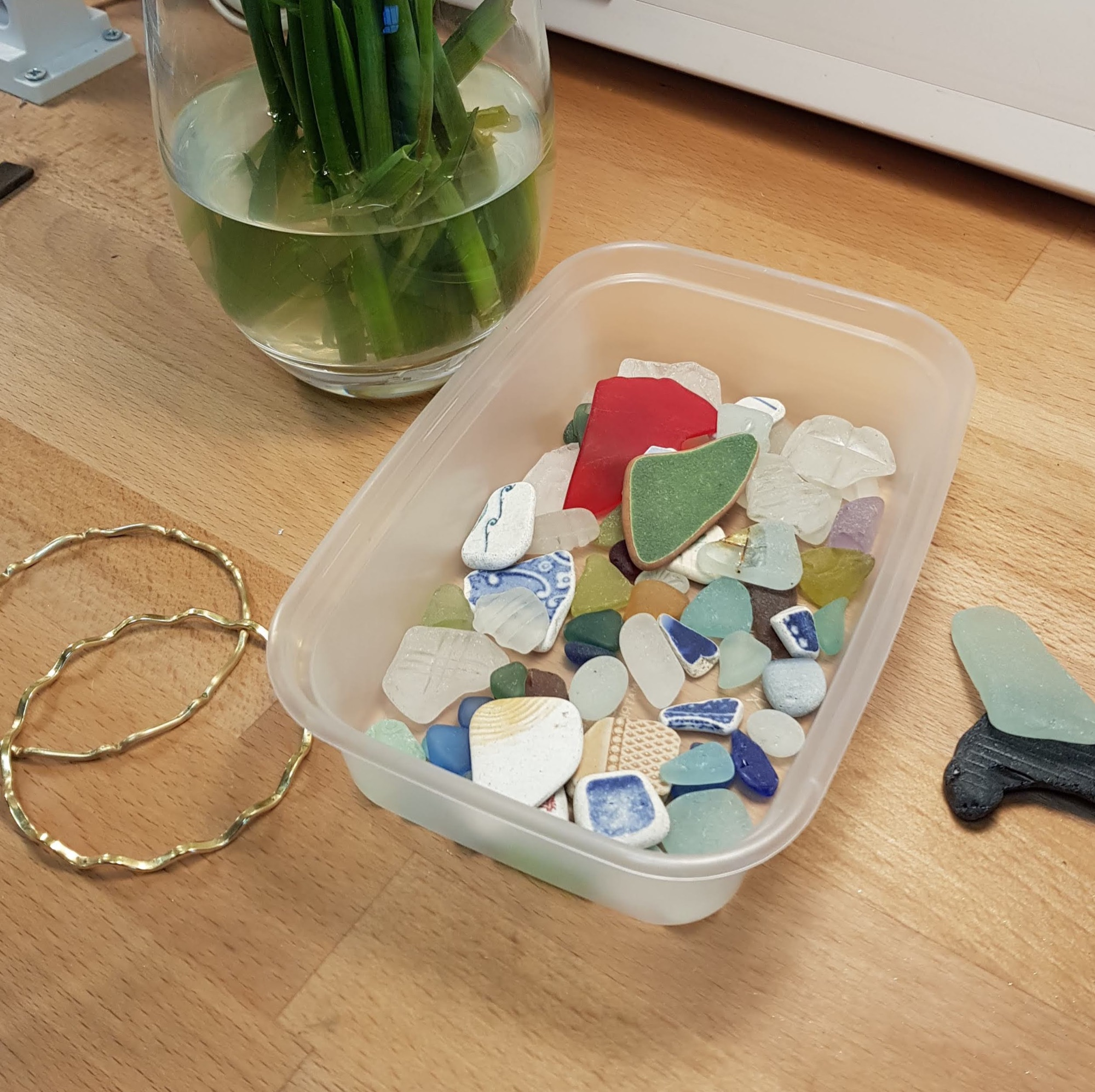 Bangle making workshop with seaglass setting workshop