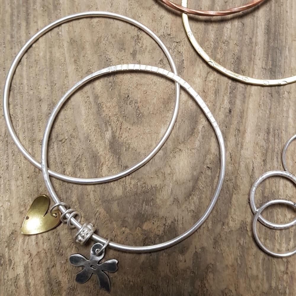 <!-- 011 -->Silver Charm bangle workshop - 15th Feb 2020