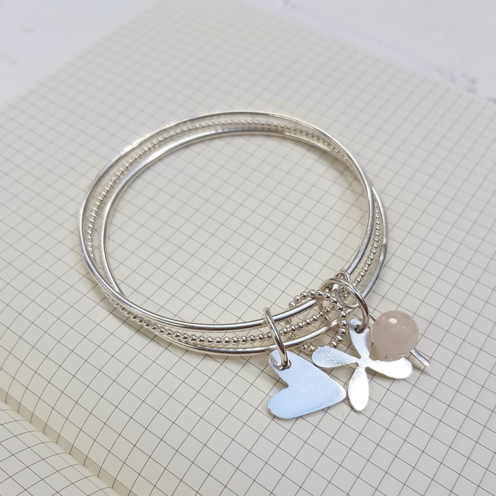 <!-- 019 -->Silver Charm bangle workshop - 16th May 2020