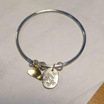 Silver Charm bangle workshop - tbc