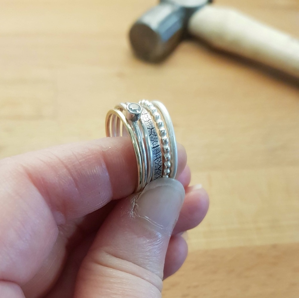 <!-- 009 -->Stacker Ring workshop with tube setting - 6th Mar 2021
