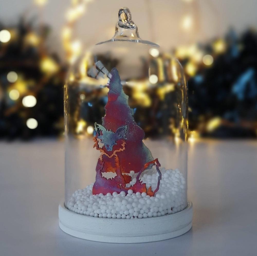 Christmas Fox Tree Bauble