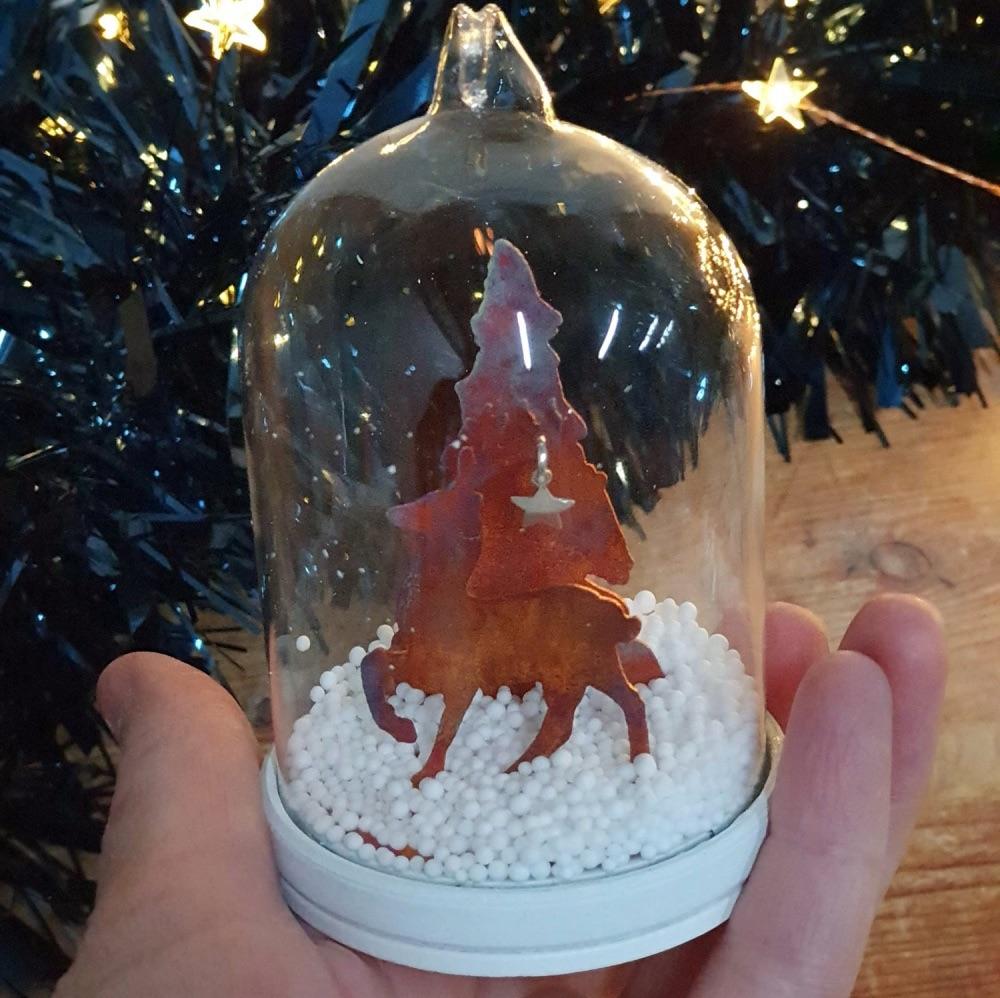 Merry Christmas Reindeer Tree Bauble