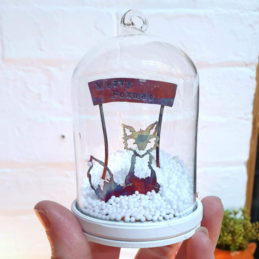 Merry Foxmas Christmas Tree Bauble