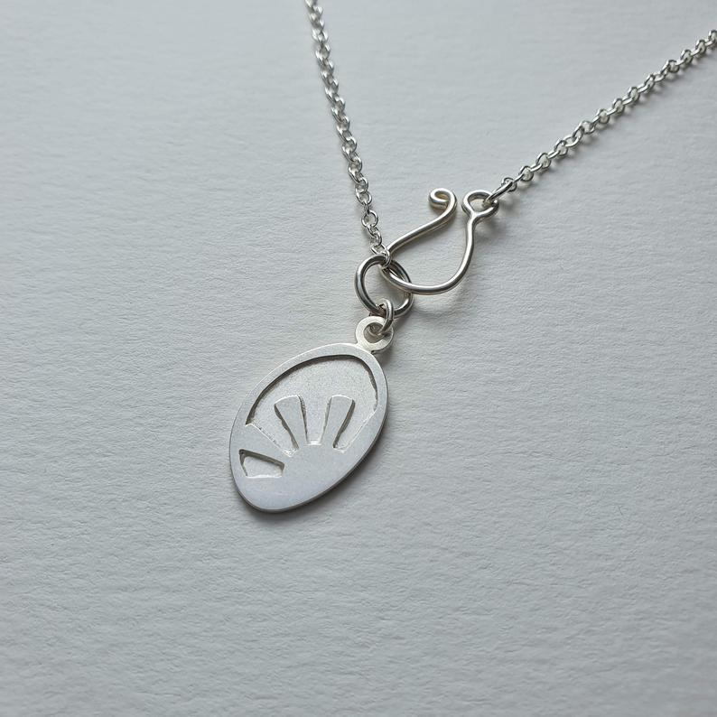 Silver Sunshine Charm Necklace
