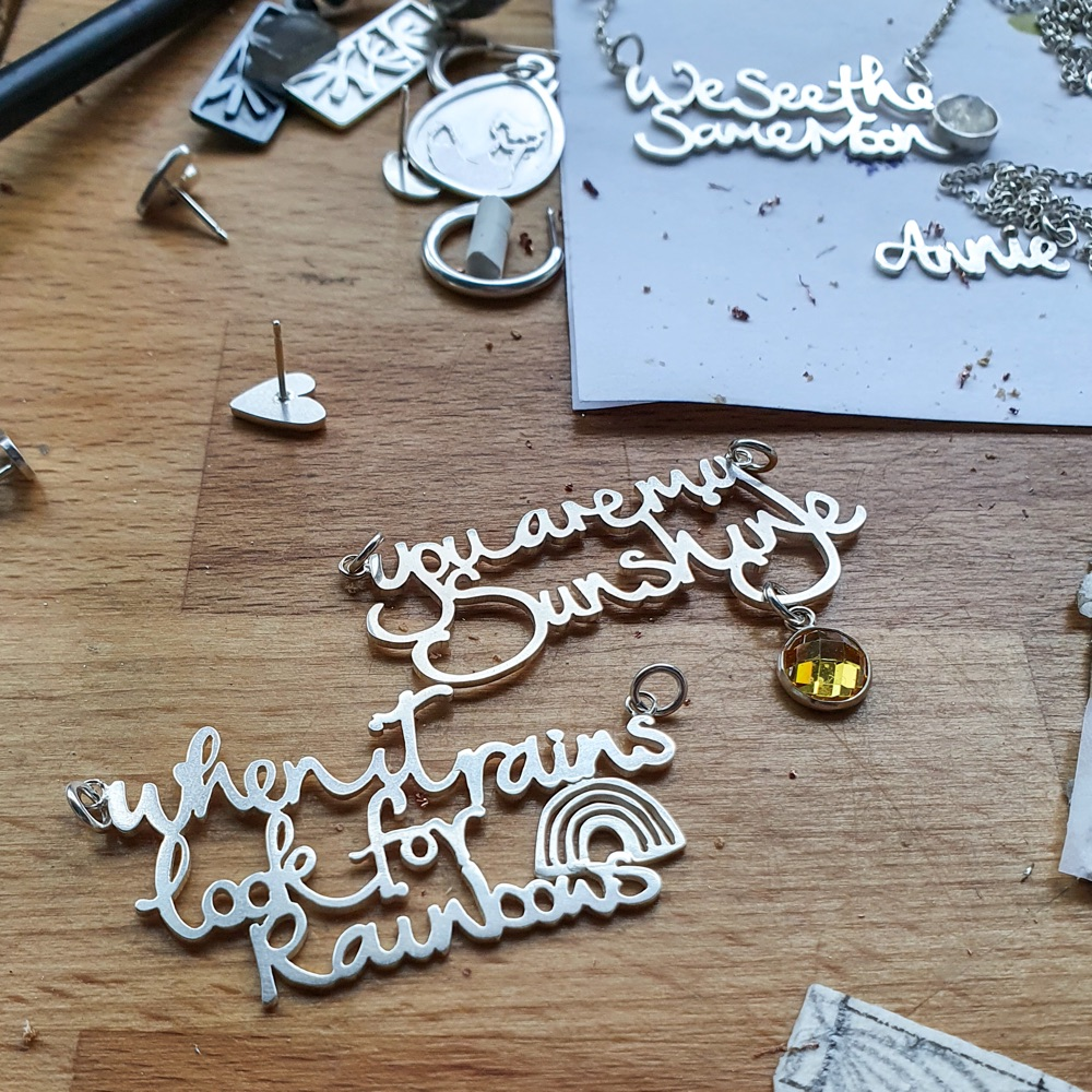 Personalised Silver Word Charms