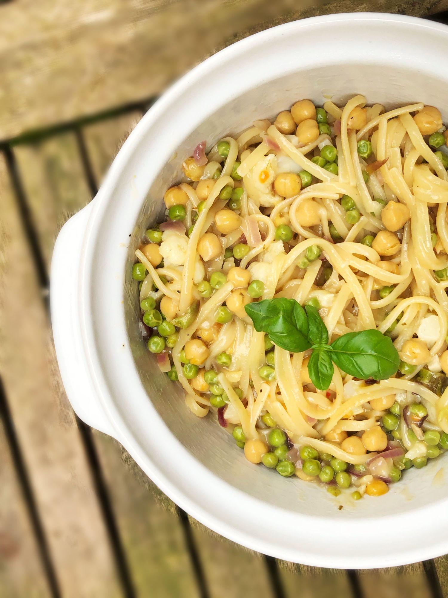 Lemon and Vegetable pasta