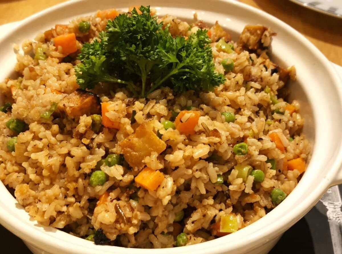 Crispy Tofu Fried Rice