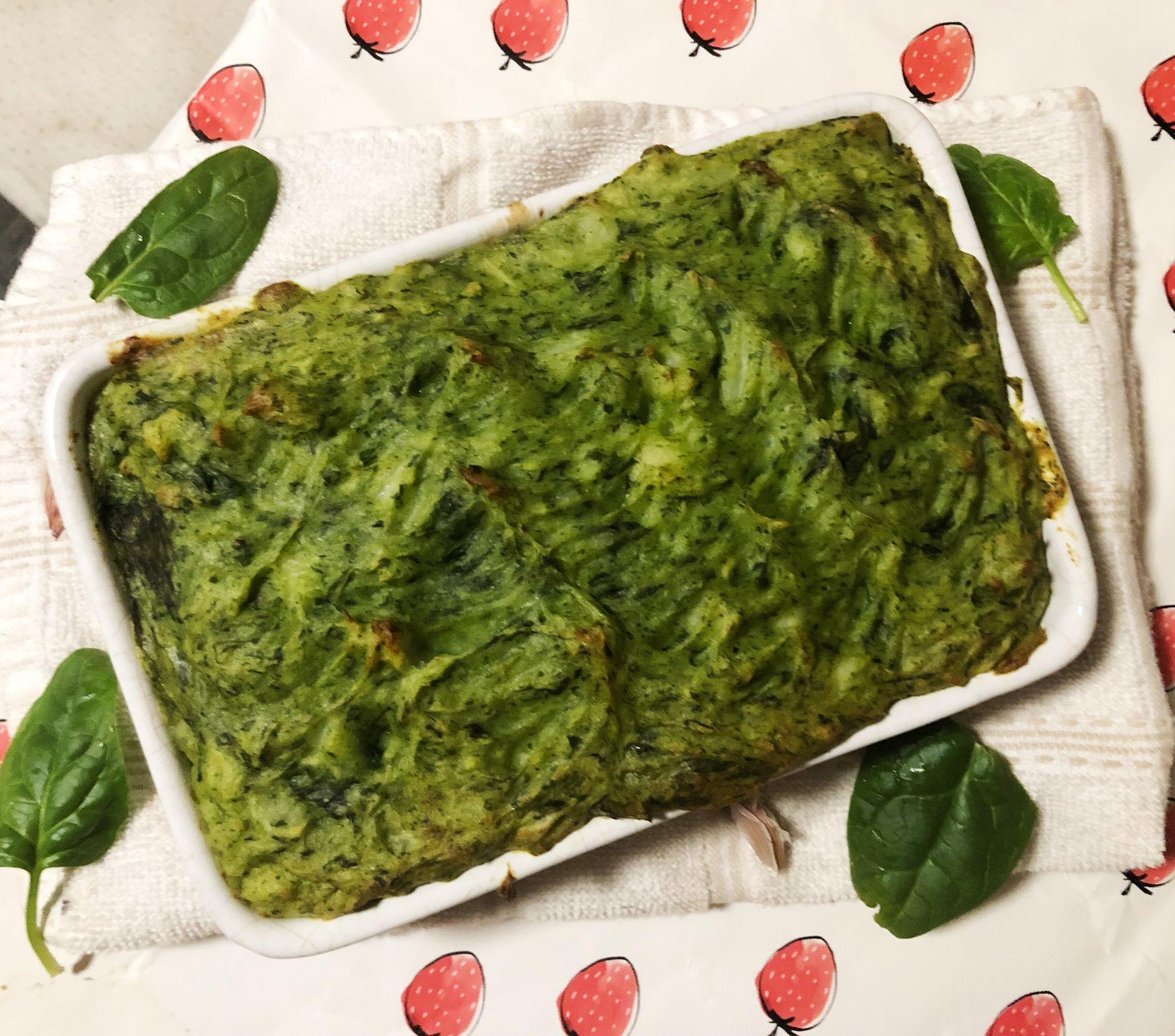 Spinach cottage pie