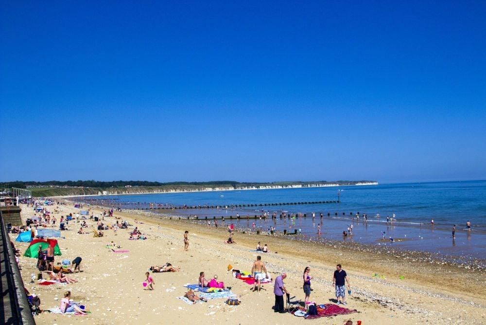 busy sunny beach