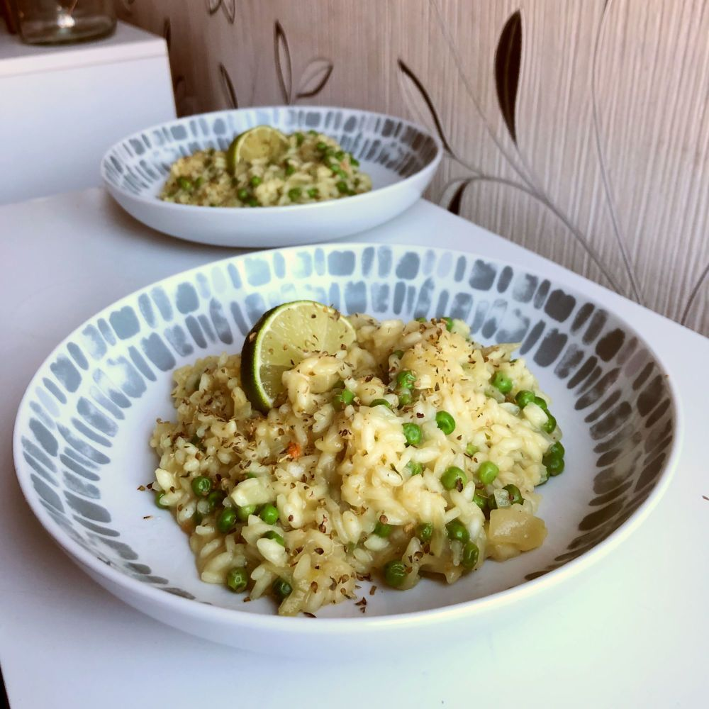 Lime and Pea Risotto