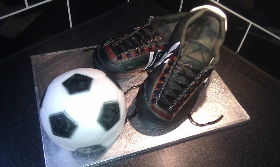 football-boots-and-ball-shaped-cake