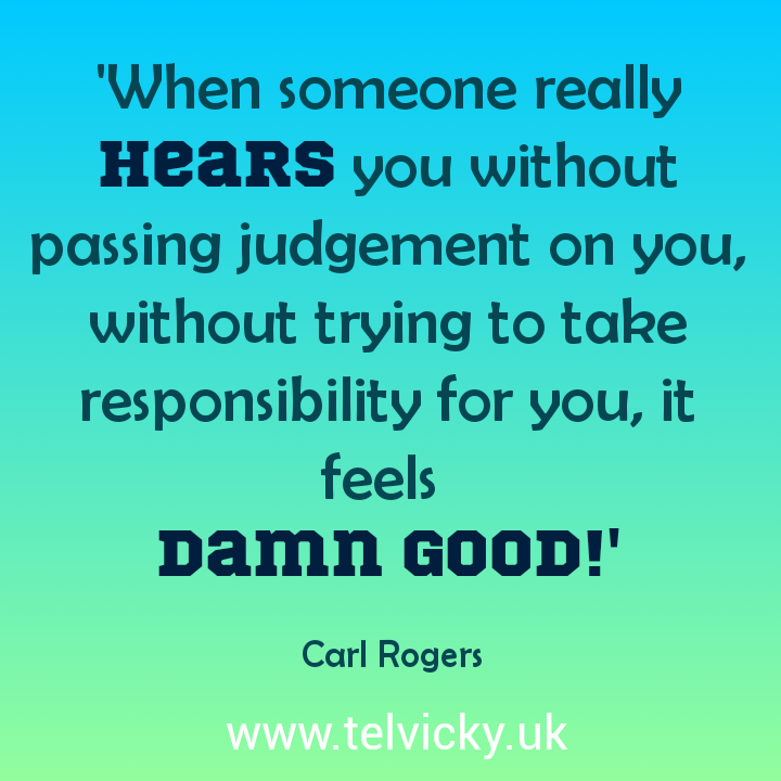 Carl Rogers on the experience of truly being heard