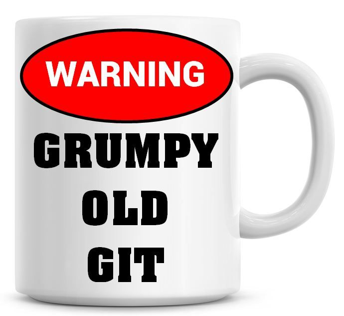 WARNING Grumpy Old Git Coffee Mug