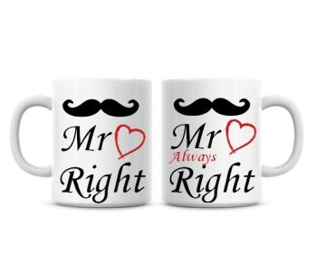 Mr Right, Mr always Right Funny Coffee Mugs