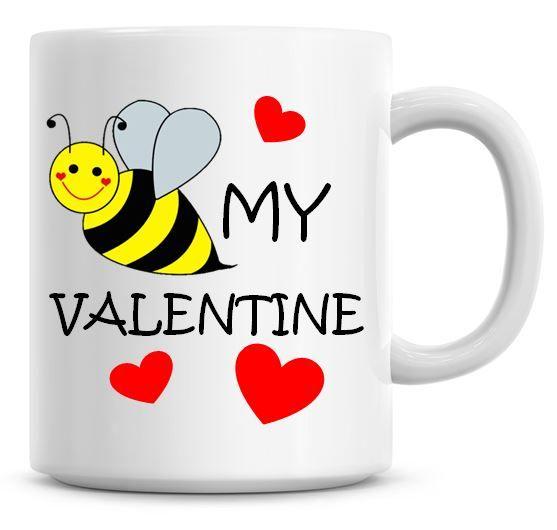 Cute Valentines BEE My Valentine Coffee Mug