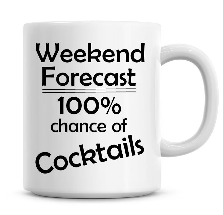 Weekend Forecast 100% Chance of Cocktails
