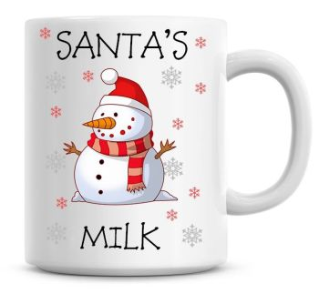 Personalised Named Merry Christmas Snowman Coffee Mug