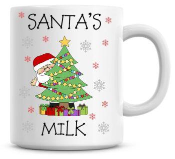 Personalised Named Merry Christmas Santa Xmas Tree Coffee Mug