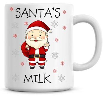 Personalised Named Merry Christmas Santa Coffee Mug
