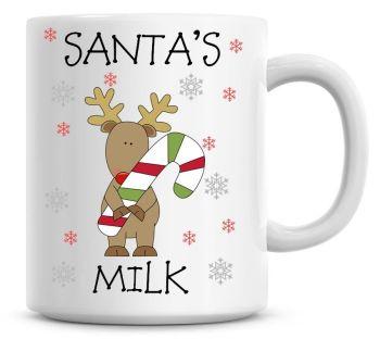 Personalised Named Merry Christmas Reindeer Coffee Mug