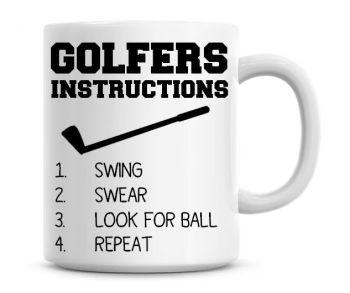 Golfers Instructions Funny Coffee Mug