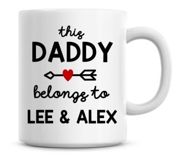 Personalised This Daddy Belongs To Personalised Fathers Day Coffee Mug