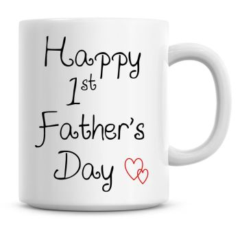 Happy Fathers Day Daddy Love Heart Fathers Day Coffee Mug