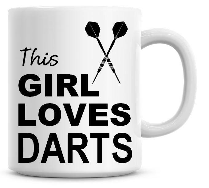This Girl Loves Darts Coffee Mug