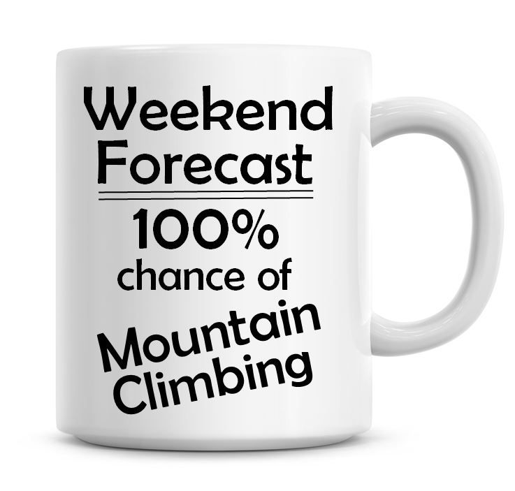 Weekend Forecast 100% Chance of Mountain Climbing