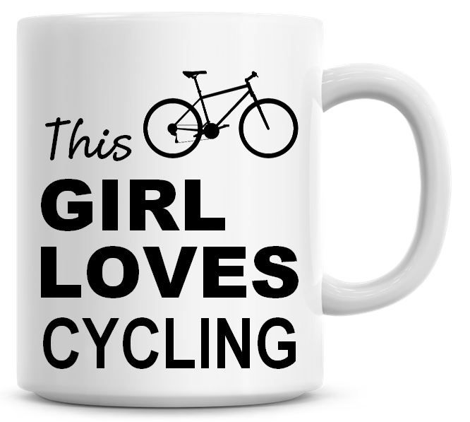 This Girl Loves Cycling Coffee Mug