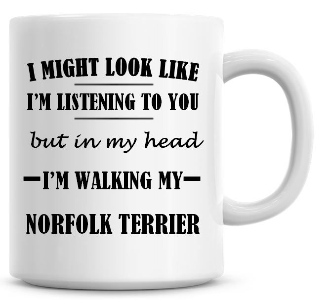 I Might Look Like I'm Listening To You But In My Head I'm Walking My Norfol
