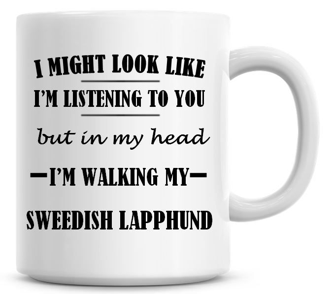 I Might Look Like I'm Listening To You But In My Head I'm Walking My Sweedi