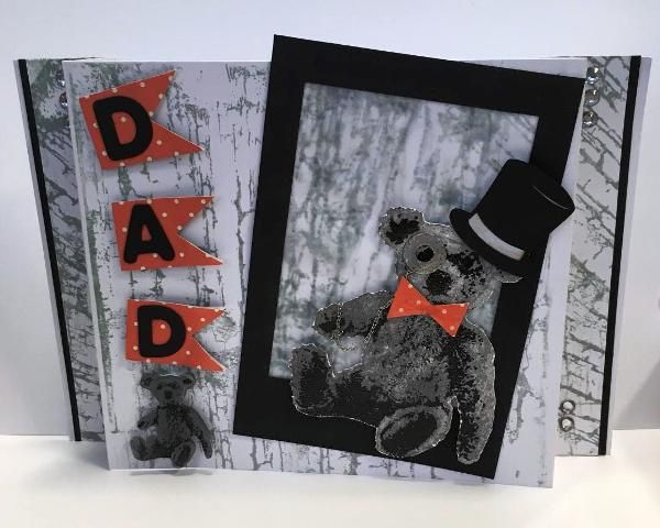 be creative tedward with distressed Crackle