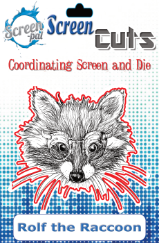 Screen pal Screen Cuts - Rolf The Raccoon screen cuts : SALE !
