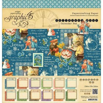 Graphic 45 Children's Hour Calendar 12x12 Paper Pad