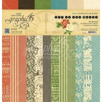 Graphic 45 Off To The Races 12x12 Patterns & Solids Pad