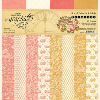 Graphic 45 Princess 12x12 Patterns & Solids Pad