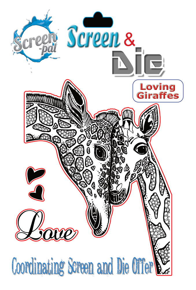Loving Giraffes Screen & Die image