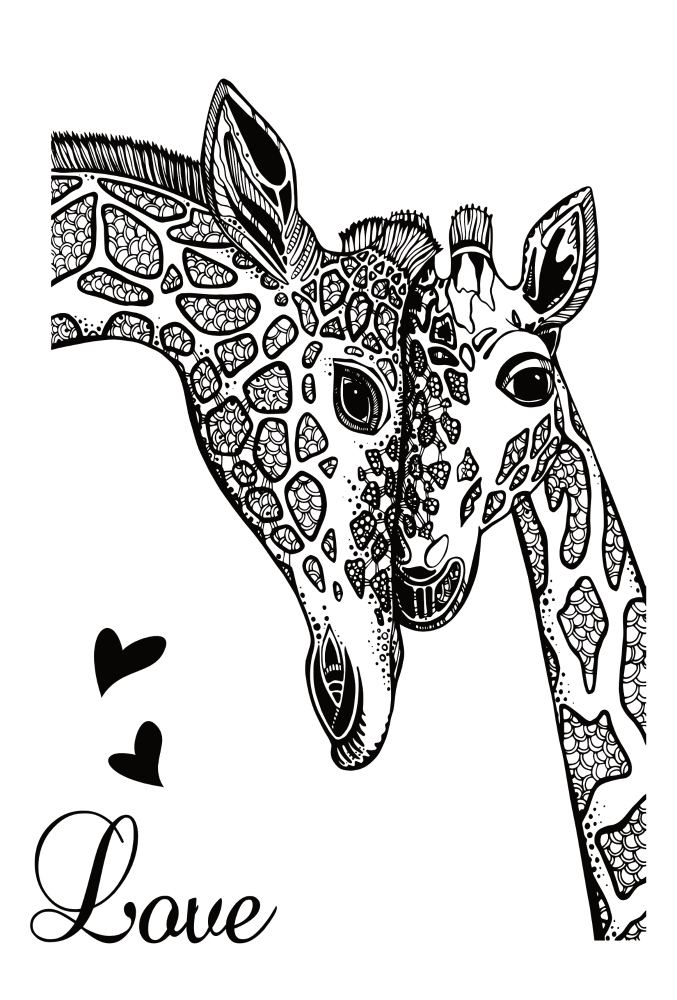 Loving Giraffes Screen image