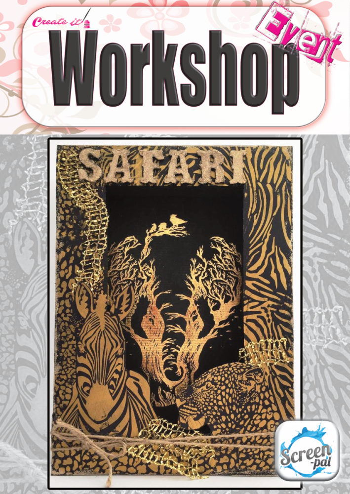 Workshop Doncaster - Shadow Box - Safari Artwork
