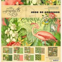 Graphic 45 Lost In Paradise 12x12 Collection Pack