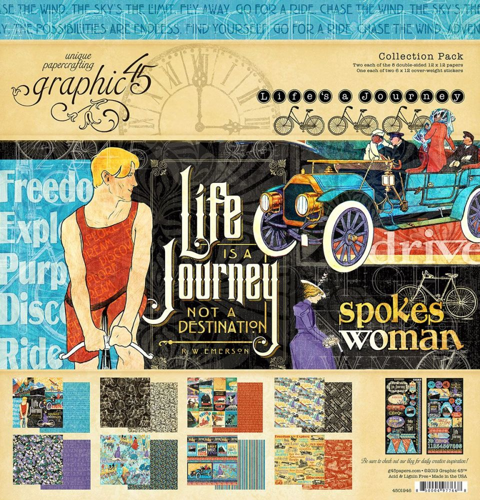 Graphic 45 - Life's a Journey 12x12 Collection Pack